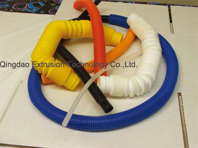 Corrugated tubing making machine